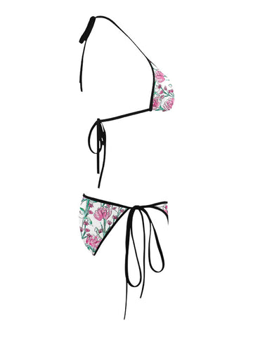 Trikini with Face Mask | Carnation