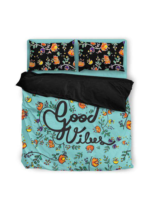 Duvet Cover | Good Vibes Green