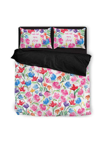 Duvet Cover | Good Vibes Pink