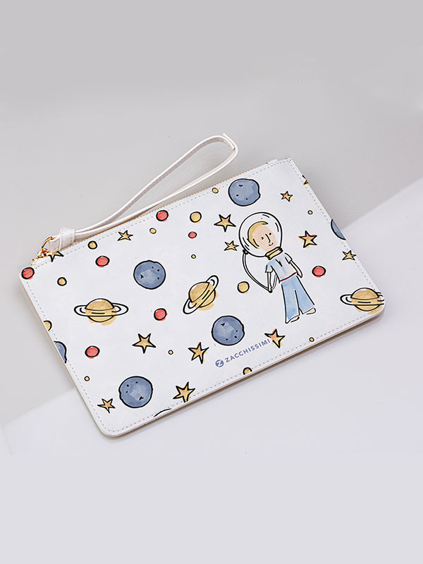 Cute Vegan leather clutch bag | little astronaut
