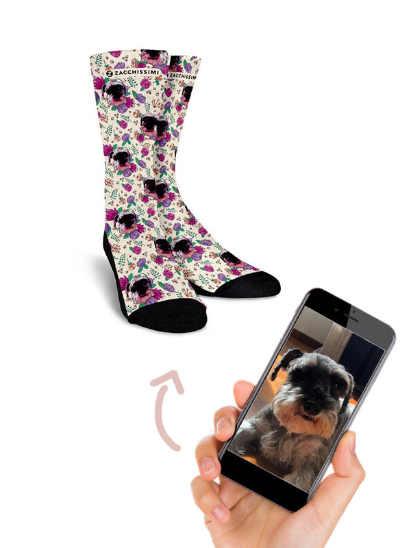 Custom Hand Painted Dog Cat Sock