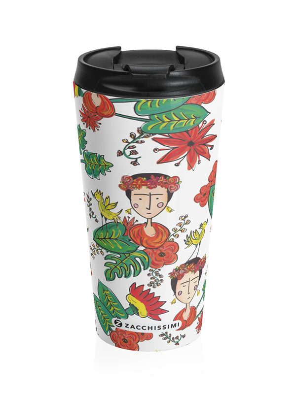 Frida Kahlo Inspired Thermal Travel Mug | Tropicalia