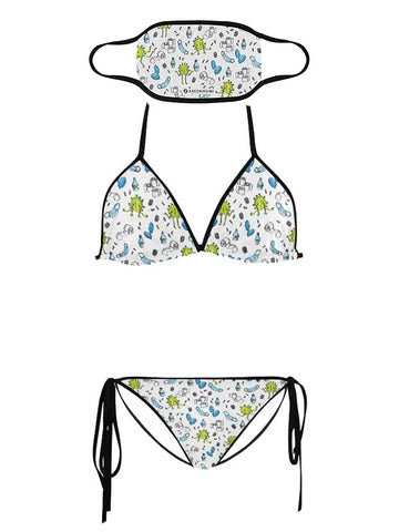 Trikini with Face Mask | Covid