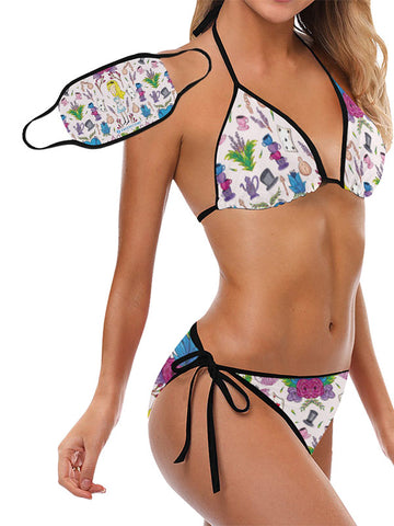 Trikini with Face Mask | Wonderlust Pink