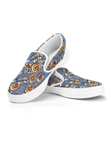 Slip On Sneakers| Free as a Bird Blue