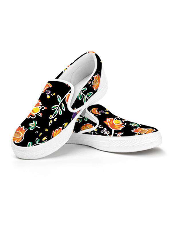 Slip On Snekaers | Good Vibes Black
