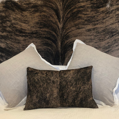 Striking Cowhide Headboard and matching cushion