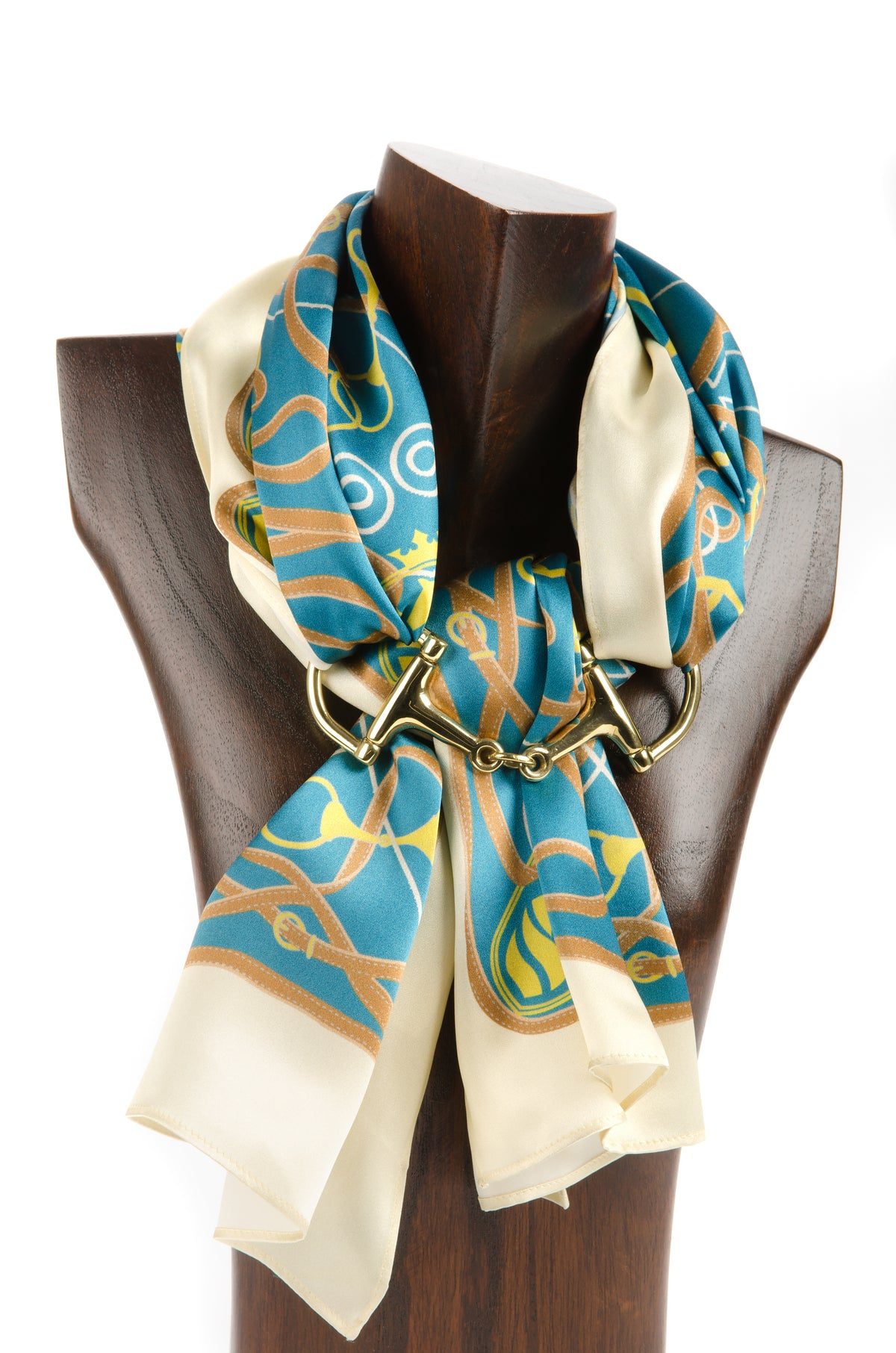Suffolk Silk Scarf - Teal