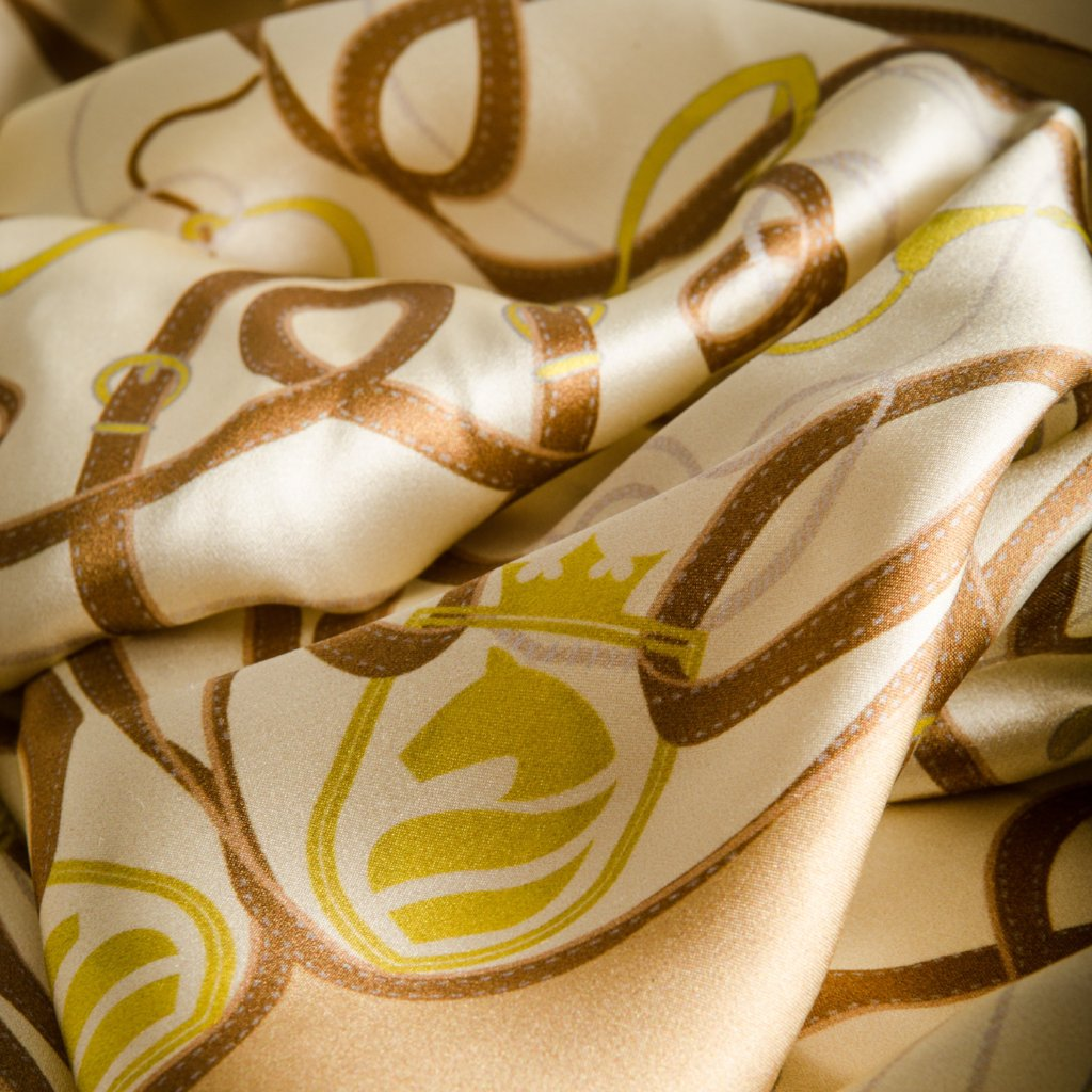 Suffolk Silk Scarf - Champagne