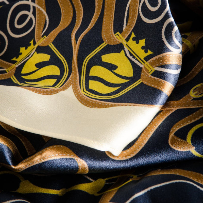 Suffolk Silk Scarf - Navy