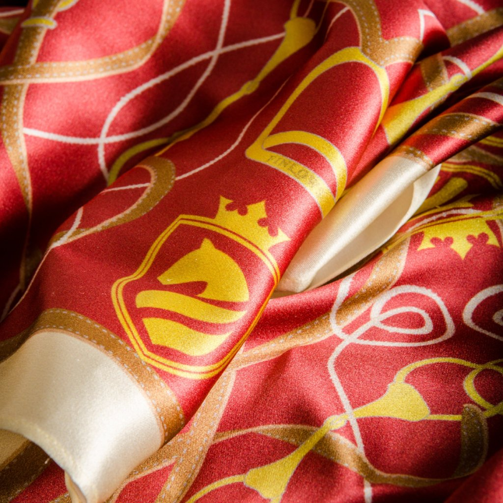 Suffolk Silk Scarf - Scarlet