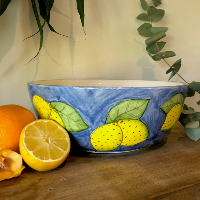 Centrepiece Candle - Painted Lemon Bowl- Made to order