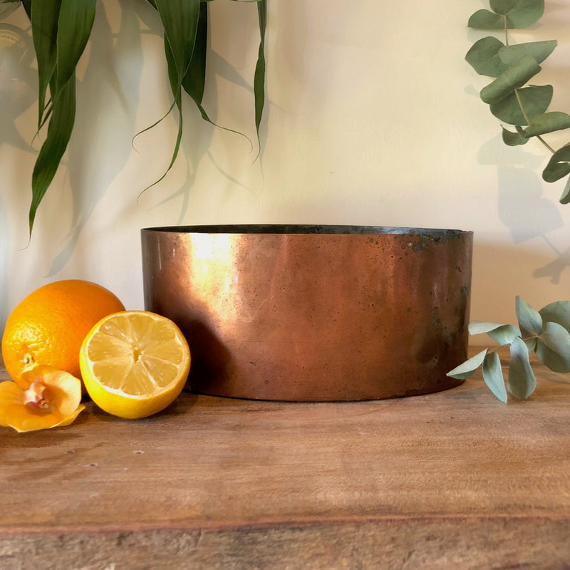 Centrepiece Candle - Rustic Copper Trough