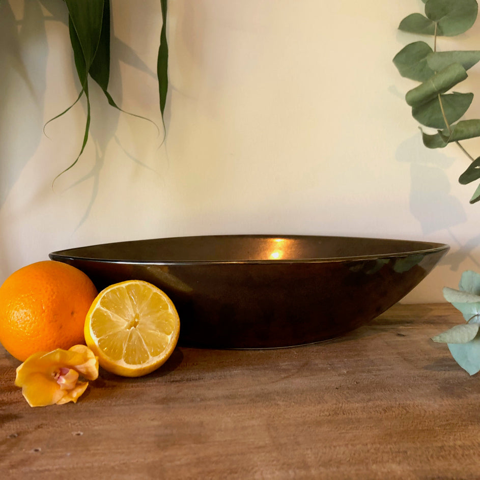 Centrepiece Candle - Ceramic Bronze Dish- Made to order