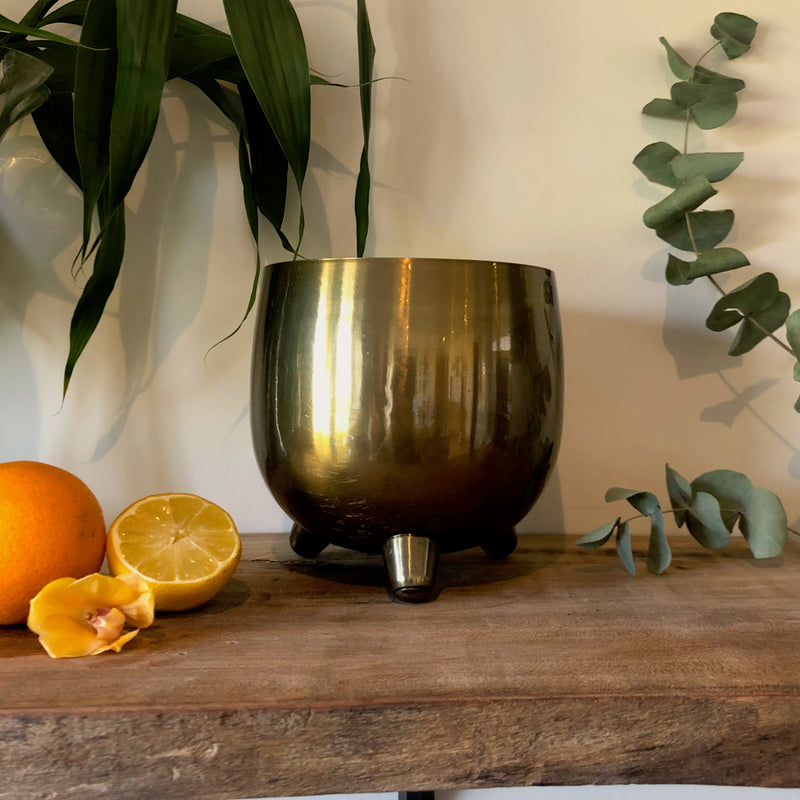 Centrepiece Candle - Deep Brass Bowl - Made to order