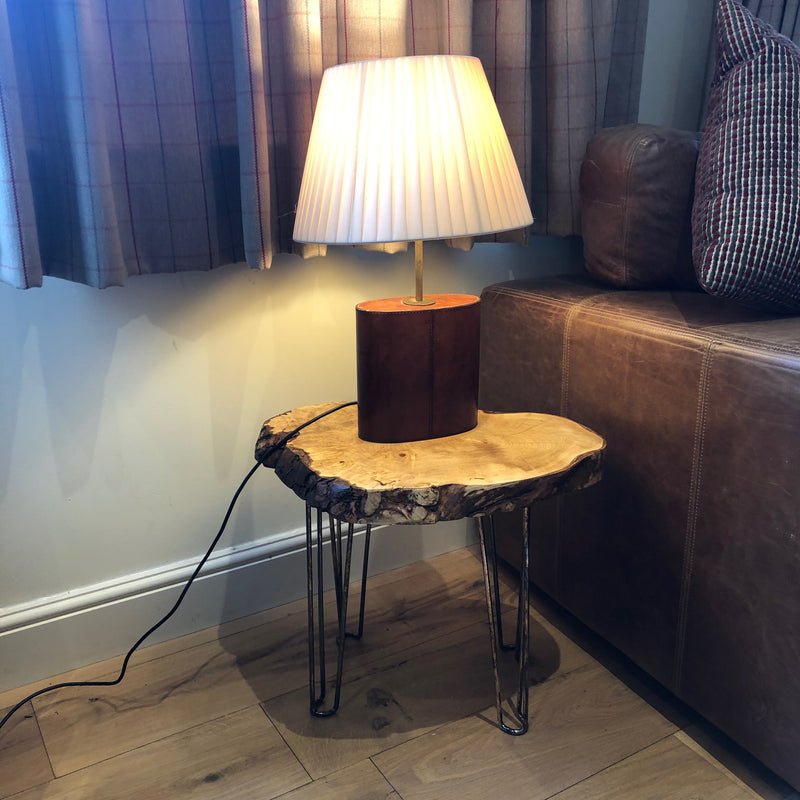 Bedside Table / Side Table Pair on Iron Brass Plated Hairpin Legs