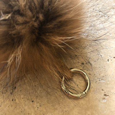 Ultimate Pompom Keyring - Natural (2)