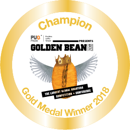 Gold Stickers 2018 for Golden Bean North America