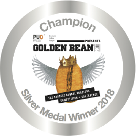 Silver Stickers 2018 for Golden Bean North America