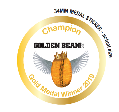 Gold Stickers 2019 for Golden Bean North America