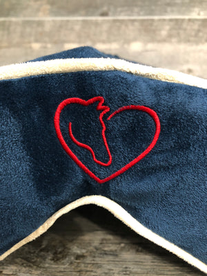SaddleMattress Vertex Horse & Heart in Dark Blue