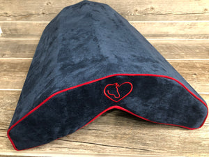 SaddleMattress Vertex Horse & Heart in Dark Blue with Red Piping