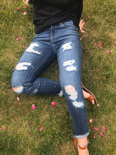 KanCan ripped fashion denim jeans