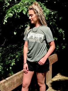 """Herd That"" Green LivestockT-Shirt"