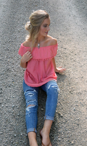 Strawberry Off Shoulder Top