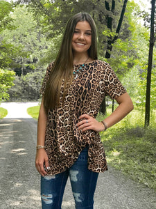 Leopard Hot or Knot Tee