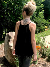 Black Tassel Tank Top Back View