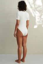 Load image into Gallery viewer, The Matilda Bodysuit - White Ribbed
