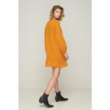 Load image into Gallery viewer, Kelley lace Up Dress - Tobacco