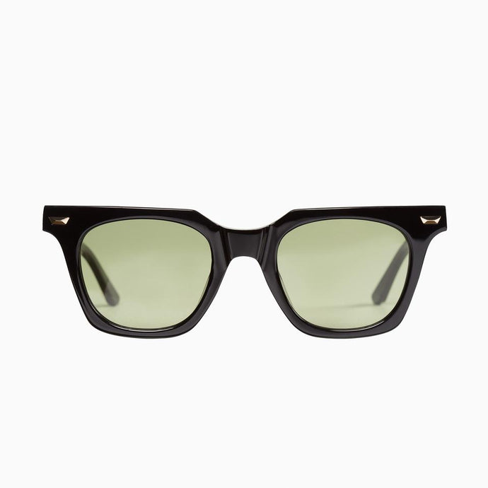 Dylan Kain - Gloss Black w. 24k Gold Metal Trim / Olive Green Lens