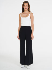 Borderline Stripe Wide Leg Pant - Black