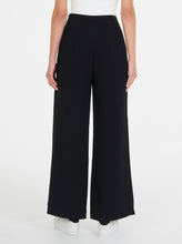 Load image into Gallery viewer, Borderline Stripe Wide Leg Pant - Black
