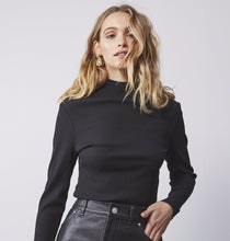 Load image into Gallery viewer, Long Sleeve Rib Top - Black