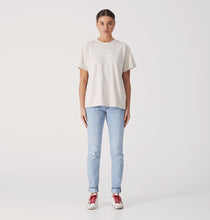 Load image into Gallery viewer, Script Embroidered Tee - Sand