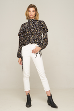 Load image into Gallery viewer, Hana Ruffle Blouse- Flora