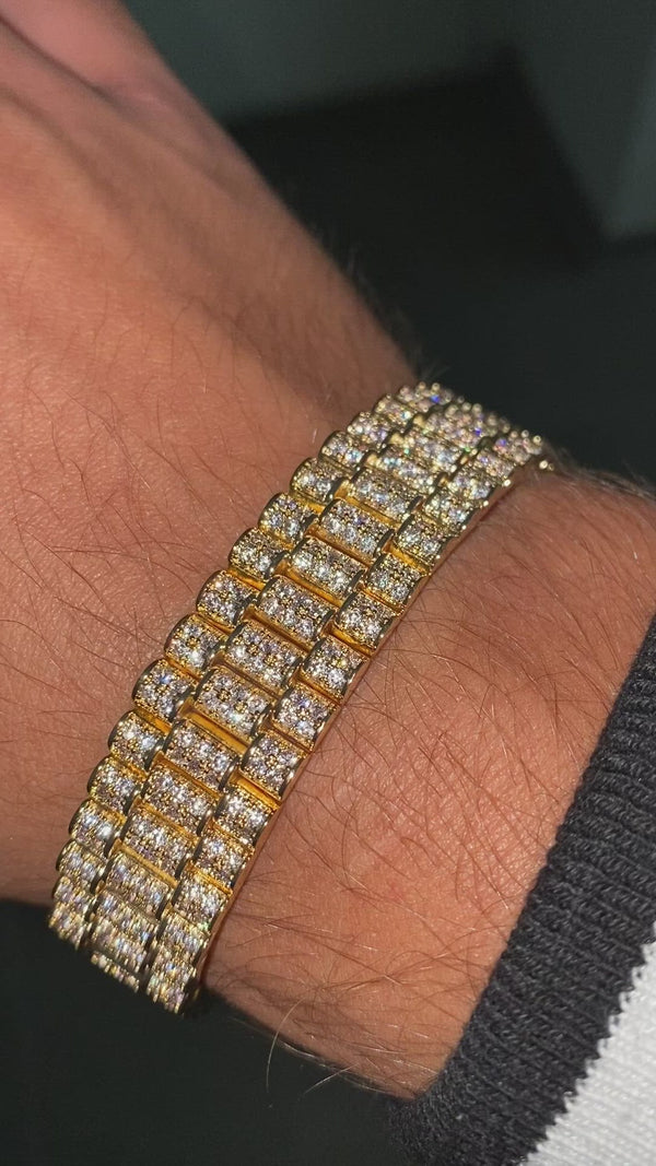 Iced out President bracelet gold