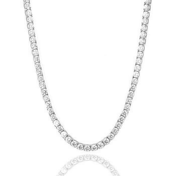 Tennis chain white gold - Emils Jewellery