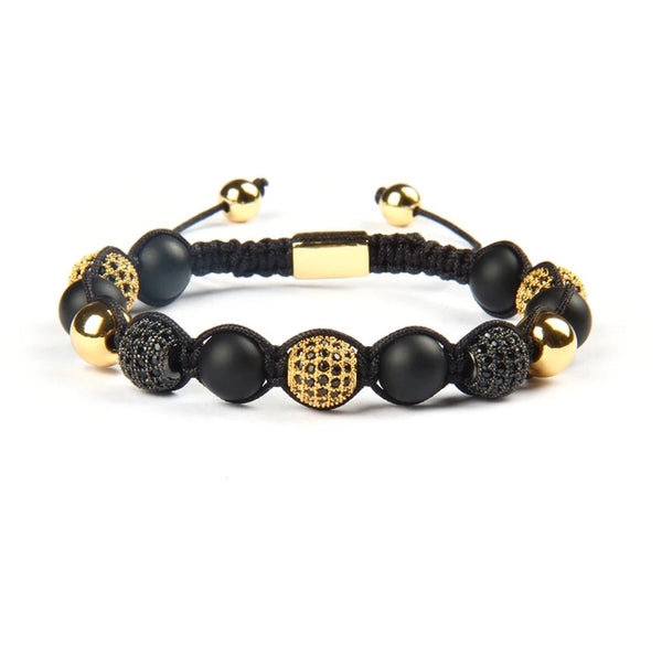 Black and gold beads bracelet - Emils Jewellery
