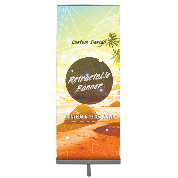 Premium Retractable Banner Stand (Silver)