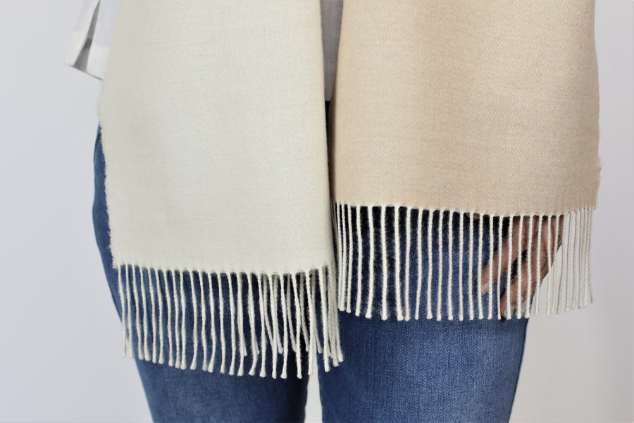 Two-tone Fringed Scarf