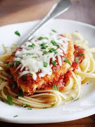Classic Chicken Parmesan (served with Spaghetti)