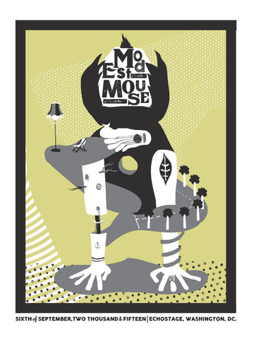 Washington D.C. Modest Mouse Show Poster