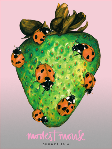 Strawberry Ladybug Modest Mouse Poster