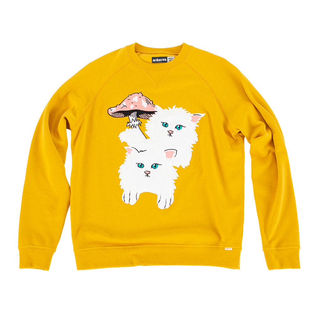 Cat Shroom Crew Neck Sweatshirt