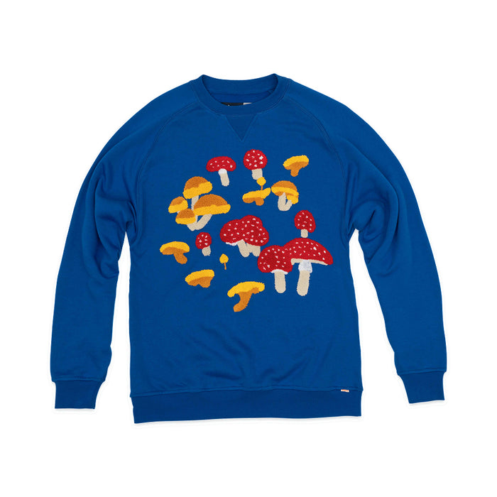 Modest Mouse Ambsn Crew Neck Mushroom Sweatshirt - Blue