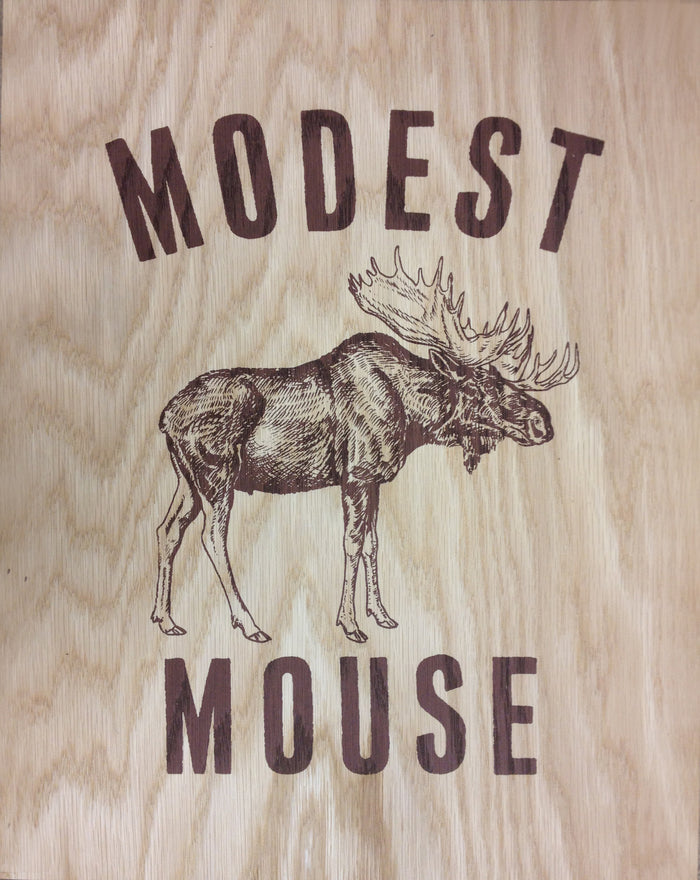 Modest Mouse Wooden Poster